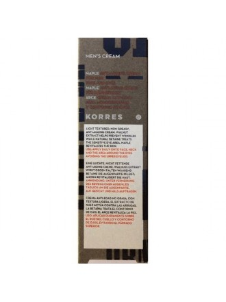 KORRES MEN'S CREAM ΣΦΕΝΔΑΜΟΣ ΑΝΤΙΡΥΤΙΔΙΚΗ & ΣΥΣΦΙΚΤΙΚΗ ΚΡΕΜΑ ΠΡΟΣΩΠΟΥ & ΜΑΤΙΩΝ 50ML