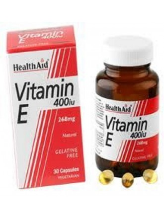 HEALTH AID VITAMIN E 400IU NATURAL VEGETARIAN CAPSULES 30S