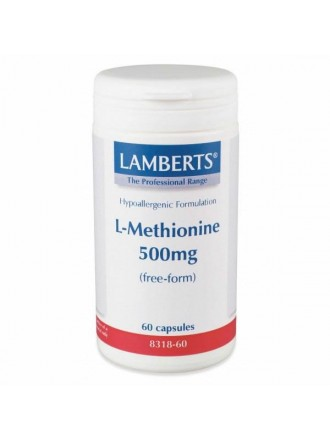 LAMBERTS L METHIONINE 500MG 60CAP
