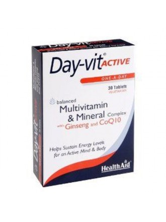 HEALTH AID DAY-VIT ACTIVE CO-Q-10 & GINSENG -BLISTER 30'S