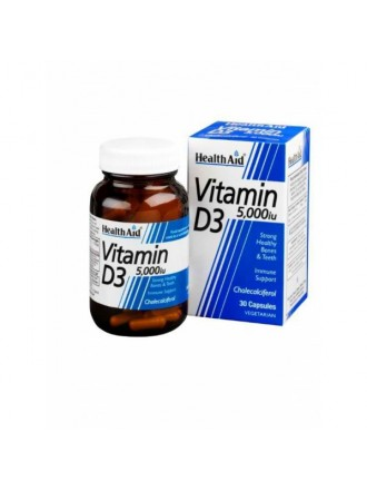 HEALTH AID VITAMIN D3 5000i.u. 30CAPS