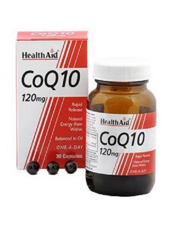HEALTH AID CONERGY CoQ10 120MG CAPSULES 30S