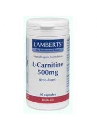 LAMBERTS L-CARNITINE 500mg NEW HIGHER STRENGHT 60caps