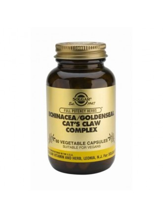 SOLGAR ECHINACEA GOLDENSEAL CAT'S CLAW 60VC