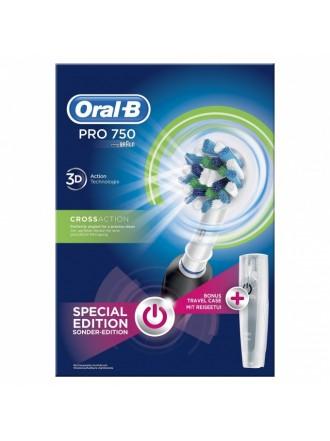 ORAL B PROFESSIONAL CARE 750 3D CROSS ACTION ΜΑΥΡΗ ΗΛΕΚΤΡΙΚΗ ΟΔΟΝΤΟΒΟΥΡΤΣΑ & ΔΩΡΟ ΘΗΚΗ ΤΑΞΙΔΙΟΥ